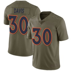Terrell Davis Denver Broncos Men's Limited Salute to Service Nike Jersey - Green